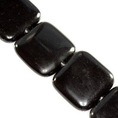 black onyx squares 20 x 20 mm / semi-precious stone synthetic