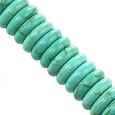 donuts turquoise 10 x 10 mm