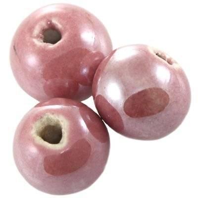sfere di porcellana luccicanti rosa 12 mm