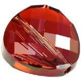 Swarovski twist beads crystal red magma 14 mm
