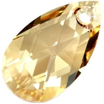 Swarovski pear-shaped pendants crystal golden shadow 28 mm