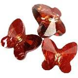 Swarovski butterfly beads crystal red magma 6 mm