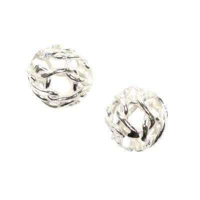 sterling silver 925 lace bead 4 mm