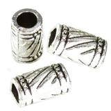 metal bugle beads lines 6 x 10.7 mm