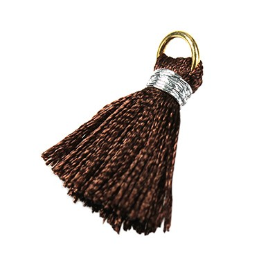 tassels brown 21 mm metal ring
