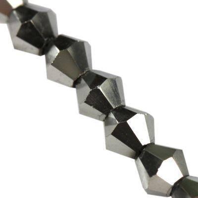 argent appliquée Crystaline toupies 4 mm / perles de cristal