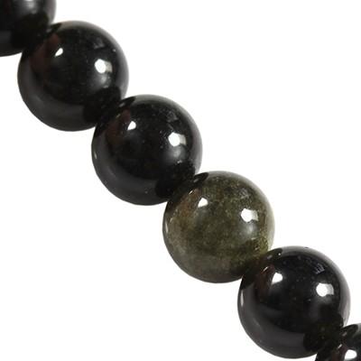 złoty obsydian 8 mm kamień naturalny