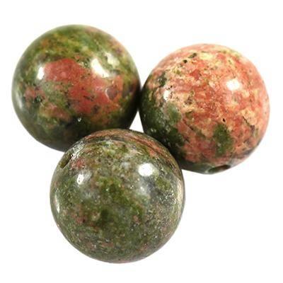 unakite beads 8 mm / semi-precious stone