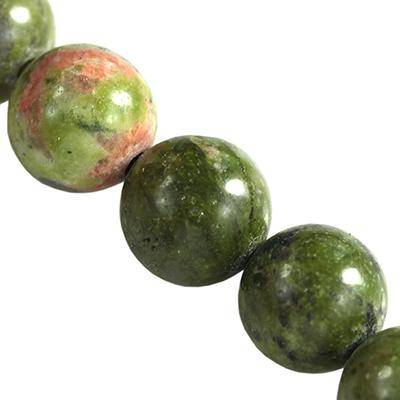unakite beads 8 mm / semi-precious stone