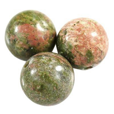 round beads unakite 8 mm