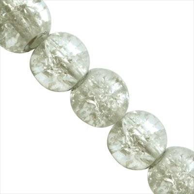 crackle beads beads white color inside 10 mm
