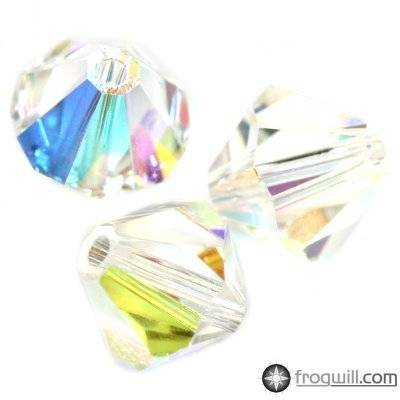 Swarovski bicone beads crystal ab 6 mm