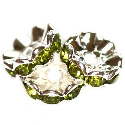 spacers rings with zircons olivine 10 mm