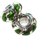 modular beads green leaves classic 7 x 13 mm