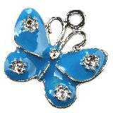 charms pendants blue butterfly 20 x 20 mm