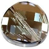 Swarovski twist beads crystal bronze shade 14 mm