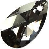 Swarovski pear-shaped pendants crystal silver night 28 mm