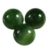 agat gładki zielony 6 mm kamień półszlachetny naturalny barwiony