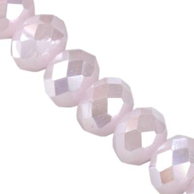 CrystaLine rondelle light pink AB 6 x 8 mm