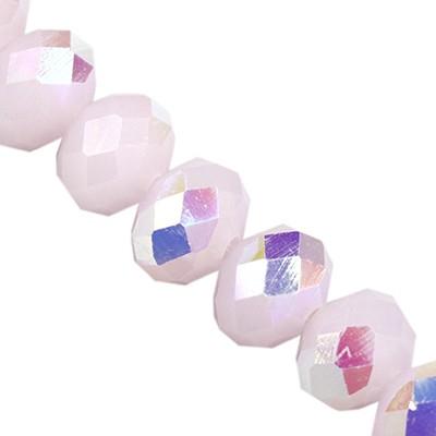 CrystaLine rondelle light pink AB 6 x 8 mm
