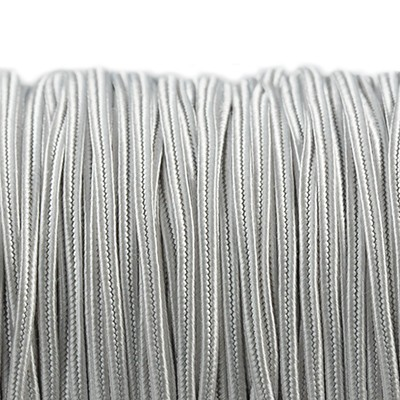 Rayon soutache cord 2.5 mm silver grey