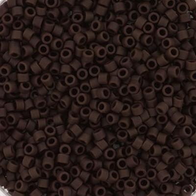 Miyuki Delica Beads opaque matte espresso 1.6 x 1.3 mm DB-1910