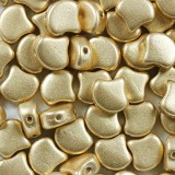 Ginko beads pale gold 7.5 mm
