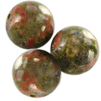 unakite beads 10 mm / semi-precious stone