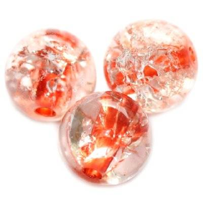 crackle beads beads orange color inside 10 mm
