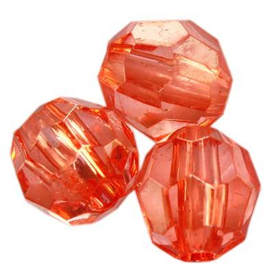 cristaux en plastique ronds rouges 8 mm