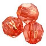 kryształki plastikowe okrągłe czerwone 8 mm