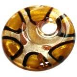 zawieszki koraliki lampwork koła miodowe cętki 42 x 42 mm
