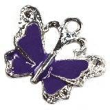 charms pendants amethystine butterfly 19 x 22 mm