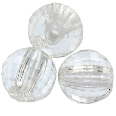 faceted transparent round beads 6 mm
