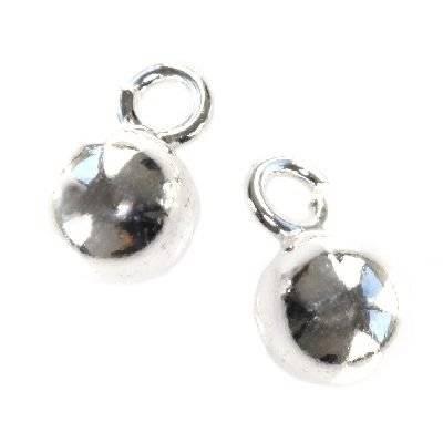 argento 925 etichetta sfera 6 mm