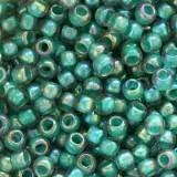 perles Toho round inside-color rainbow lt sapphire/opaque tea 2 mm TR-11-1833