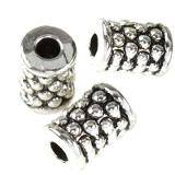 Metall Stiftperlen dots 5,6 x 8,2 mm