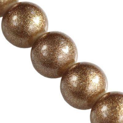 koraliki Gold Powder Metallic capuccino 8 mm