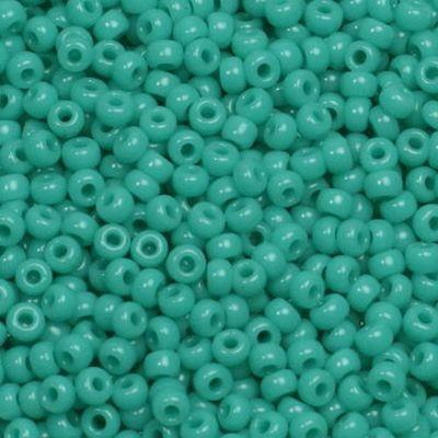 Miyuki round beads opaque turquoise green 11/0 #11-412