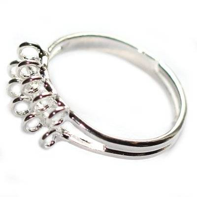 adjustable ring with 10 soldered strands