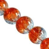 koraliki crackle kule / koraliki szklane