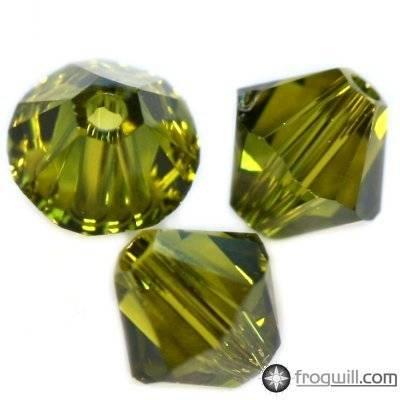 Swarovski bicone beads olivine 6 mm