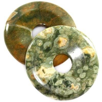 pendentifs ronds rhyolite 40 mm