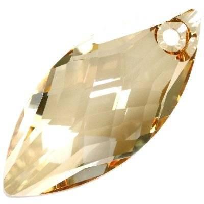 Swarovski navette pendants crystal golden shadow 30 x 14 mm