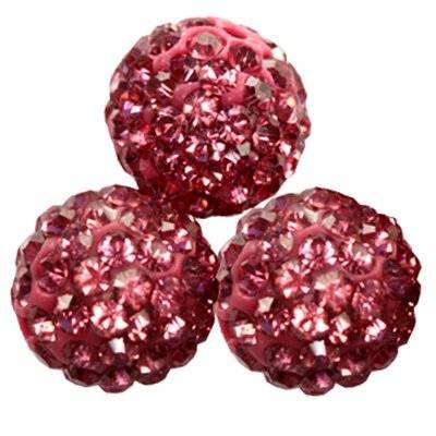 perles amaranthe fimo boules caramballa cristaux 12 mm