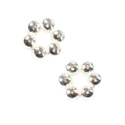 argento 925 distanziale fiorellino