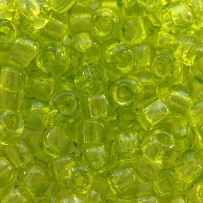 Toho beads round transparent lime green 3 mm TR-08-4