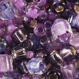 Toho beads mix kawaii- purple/green mix TX-01-3207