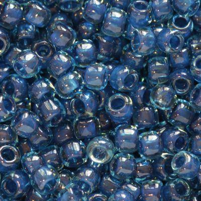 Toho round inside-color aqua/capri lined 2.2 mm TR-11-932