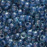 Toho beads round inside-color aqua/capri lined 2.2 mm TR-11-932